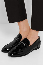 New Power horsebit-detailed patent-leather loafers