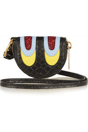 Stella McCartney Snake-effect faux leather coin wallet