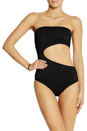 Stella McCartney Strapless cutout swimsuit