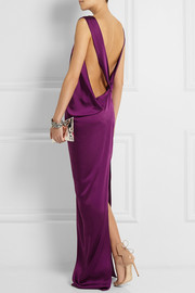 Stella McCartney Ruth draped satin-twill gown
