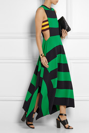 Stella McCartney Striped jersey maxi dress