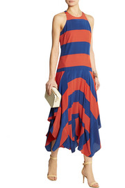 Stella McCartney Asymmetric striped silk dress