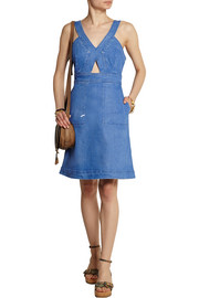 Stella McCartney Cutout denim mini dress