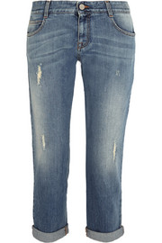 Tomboy distressed low-rise boyfriend jeans