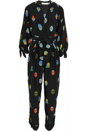 Stella McCartney Printed silk crepe de chine jumpsuit
