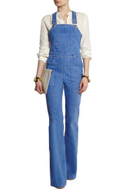 Stretch-denim overalls