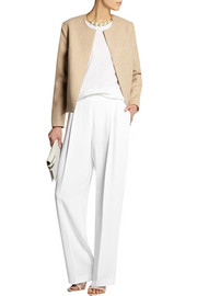 Cicely stretch-cady wide-leg pants