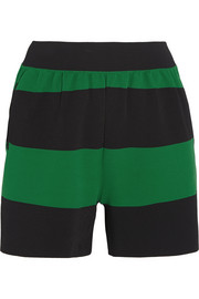 Striped stretch-jersey shorts