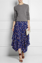 Stella McCartney Printed silk crepe de chine skirt