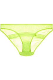 Fara stretch-tulle briefs