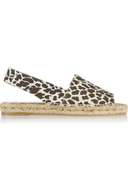 Stella McCartney Leopard-print canvas espadrilles