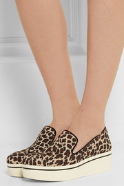 Stella McCartney Leopard-print canvas slip-on sneakers