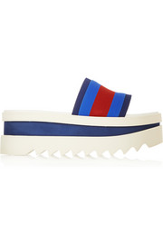 Striped canvas platform slides