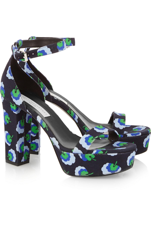 Stella McCartney Floral-print canvas sandals