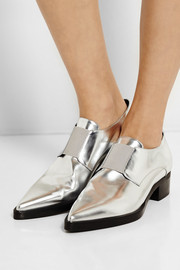 Stella McCartney Metallic faux leather loafers