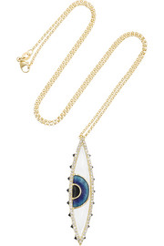 18-karat gold, enamel, diamond and spinel necklace