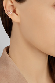 Halleh 18-karat rose gold diamond ear cuff