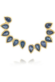 Halleh 18-karat gold sapphire earrings
