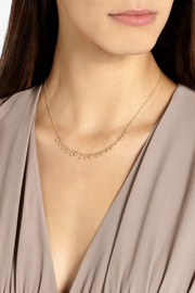 Halleh 18-karat gold diamond necklace