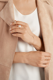 Halleh 18-karat gold, diamond and pearl ring