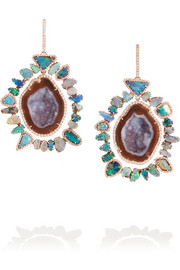 18-karat rose gold multi-stone earrings