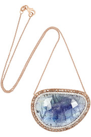 18-karat rose gold, tanzanite and diamond necklace