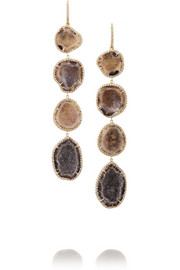 Kimberly McDonald 18-karat gold, geode and diamond earrings