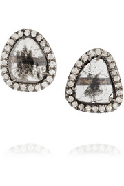 Kimberly McDonald 18-karat blackened white gold diamond earrings