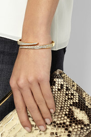 Coil 18-karat gold diamond bracelet
