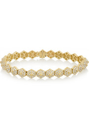 Spike 18-karat gold diamond bracelet