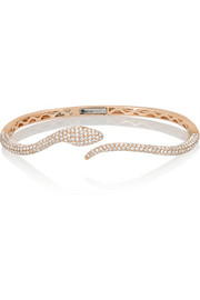 18-karat rose gold, diamond and tsavorite bracelet