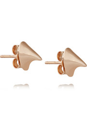 Thorn 14-karat rose gold earrings