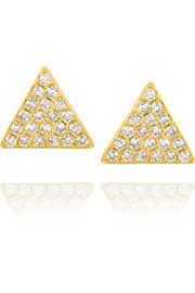 Triangle 18-karat gold diamond earrings