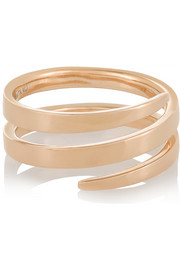 Coil 18-karat rose gold ring