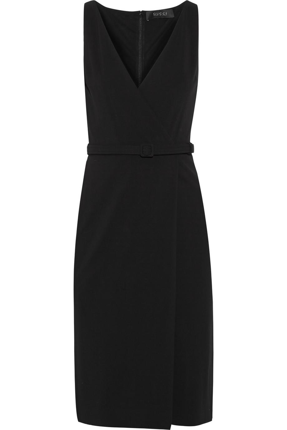 Gucci Wrap-Effect Stretch-Crepe Dress, Size: L