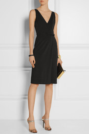 Gucci Wrap-effect stretch-crepe dress