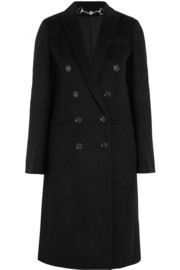 Double-breasted wool-felt coat