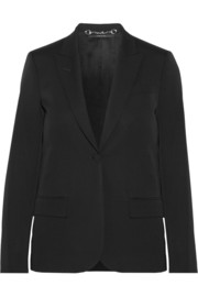Stretch wool-blend blazer