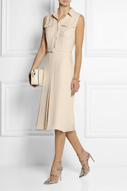 Gucci Belted silk crepe de chine shirt dress