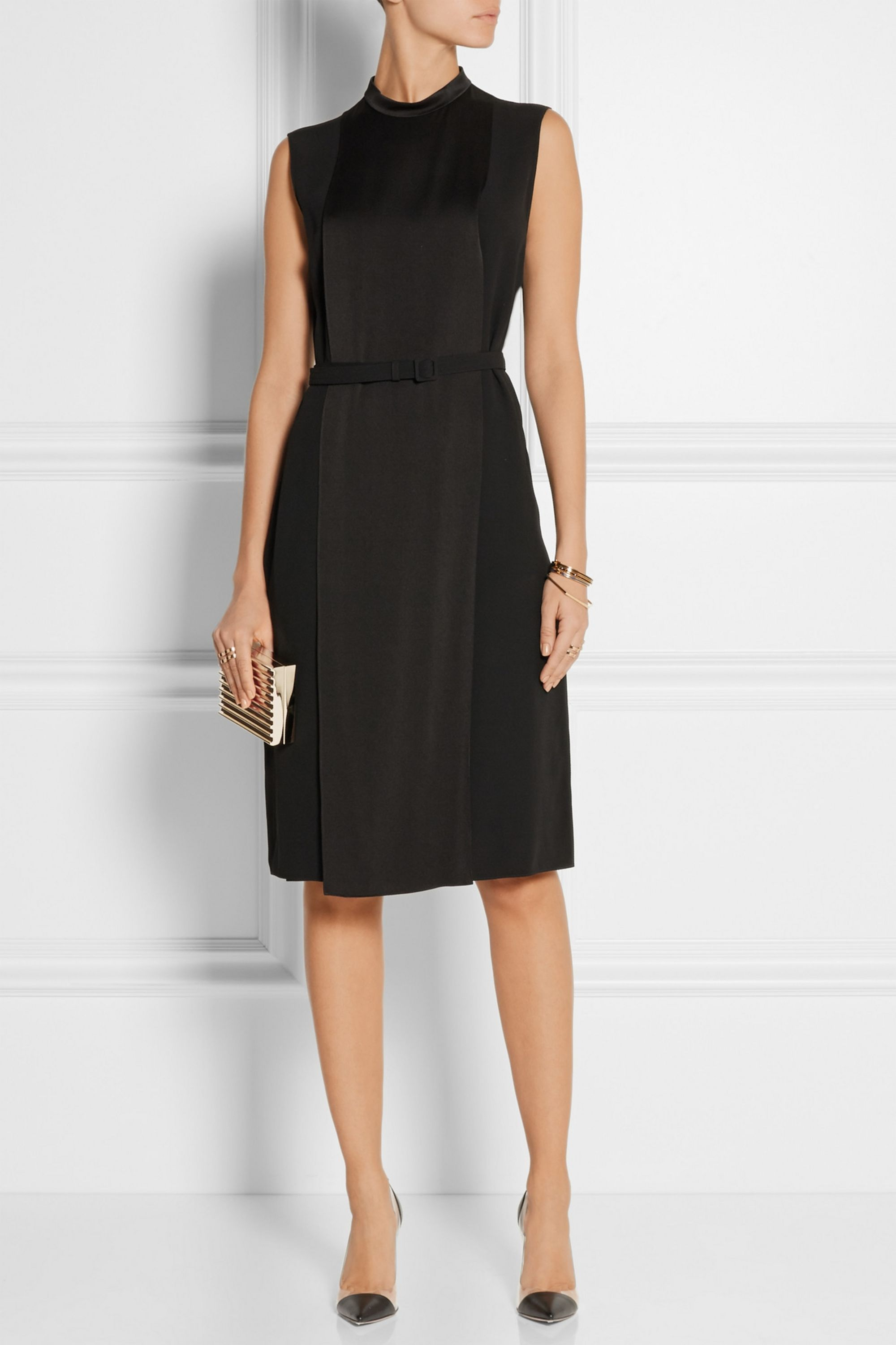 Gucci Belted satin dress