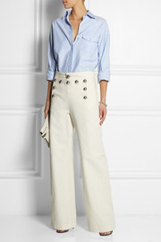 Gucci Cotton-canvas wide-leg pants