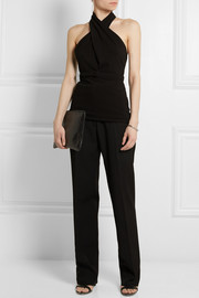 Gucci Stretch-crepe halterneck top