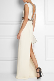 Gucci Crystal-embellished silk-cady gown