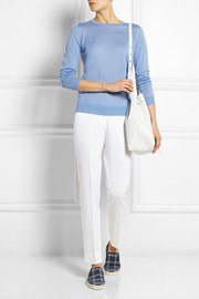 Gucci Fine-knit cashmere and silk-blend sweater