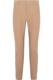 Cotton-twill skinny pants