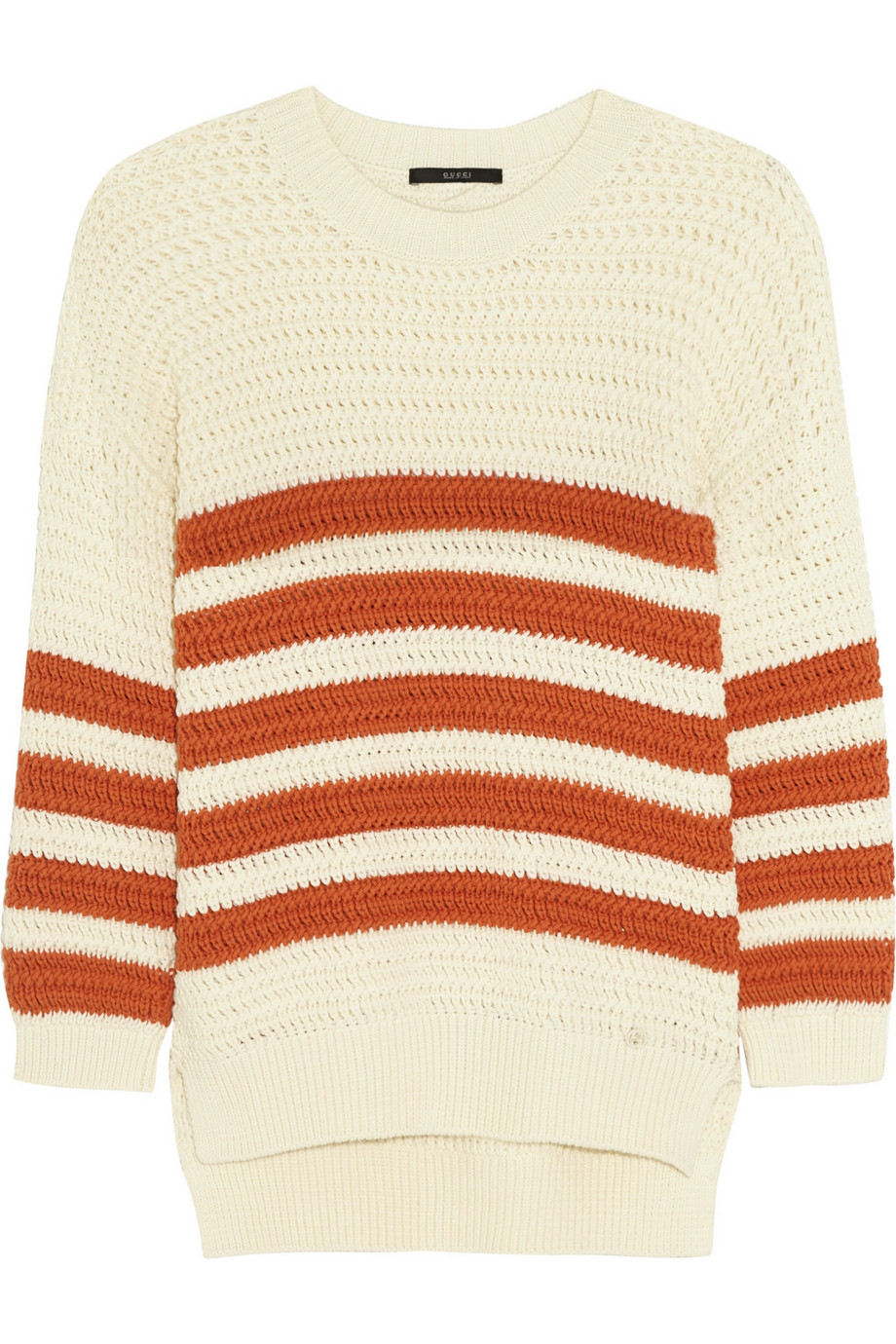 Gucci Striped Cotton-Blend Sweater, Size: L