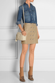 Gucci Leather mini skirt