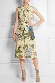 Gucci Floral-print silk-cady dress