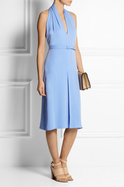 Gucci Backless silk-crepe halterneck dress