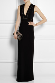 Gucci Pointelle-detailed jersey gown
